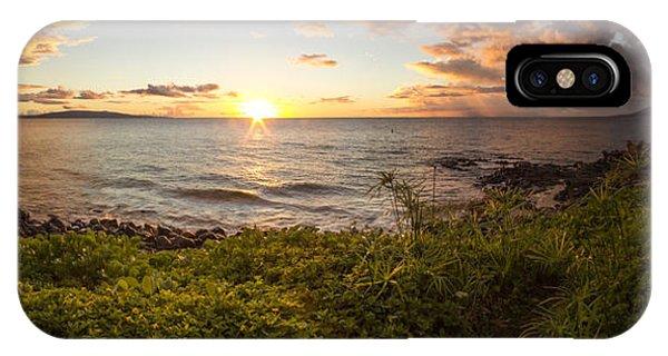 Kihei Sunset Panorama IPhone Case