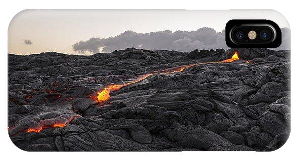 Kilauea Volcano 60 Foot Lava Flow - The Big Island Hawaii IPhone Case
