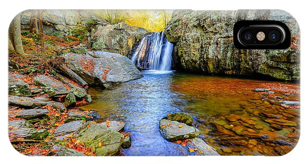 Kilgore Falls In Maryland In Autumn IPhone Case