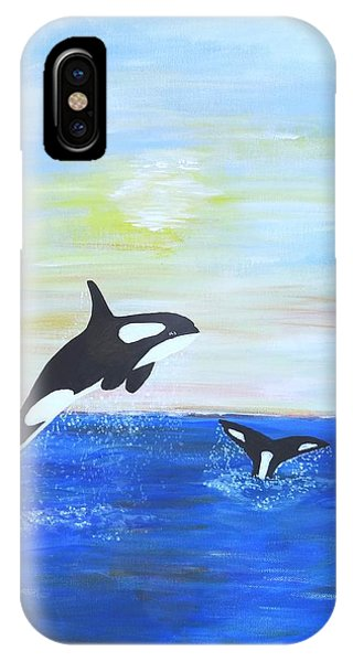 Killer Whales Leaping IPhone Case