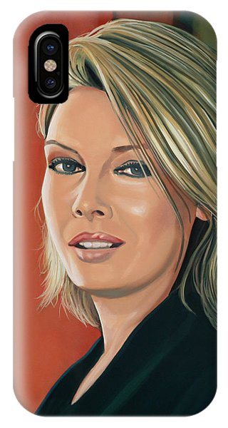 Popstar iPhone Case - Kim Wilde Painting by Paul Meijering