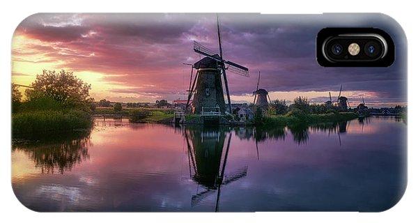 Windmill iPhone Case - Kinderdijk by Jes?s M. Garc?a