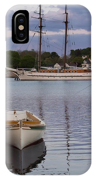 Kindred Spirits - Boat Reflections On The Mystic River IPhone Case