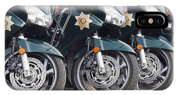 King County Police Motorcycle IPhone Case