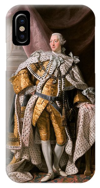 IPhone Case featuring the painting King George IIi In Coronation Robes by Celestial Images