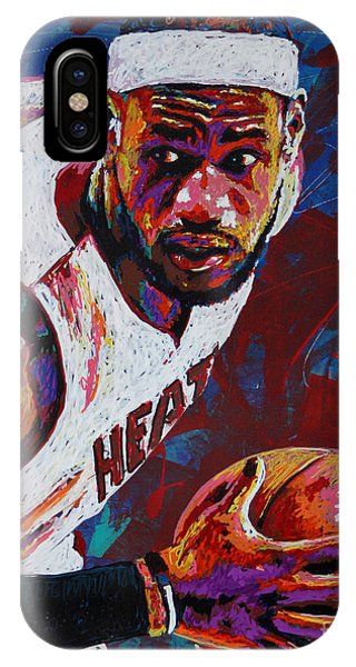 ac3debdafa3d Lebron James iPhone Case - King James by Maria Arango