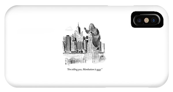 King Kong, Atop The Williamsburgh Savings Bank IPhone Case