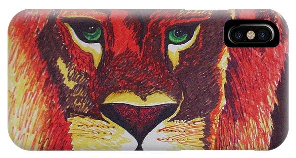 Lion In Orange IPhone Case