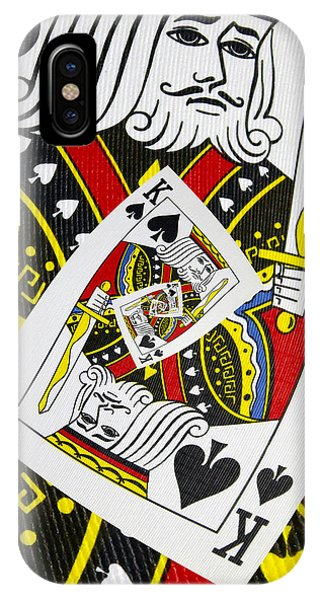 King Of Spades Collage IPhone Case