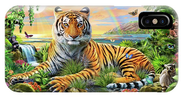 Vibrant iPhone Case - King Of The Jungle by Adrian Chesterman