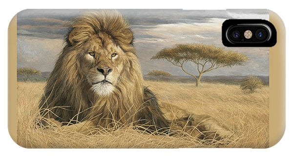 Lions iPhone Case - King Of The Pride by Lucie Bilodeau