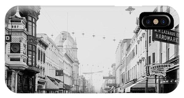 King Street In Charleston South Carolina Circa 1910 IPhone Case