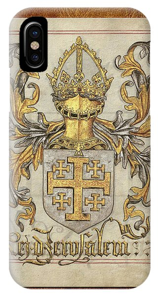 Kingdom Of Jerusalem Medieval Coat Of Arms  IPhone Case