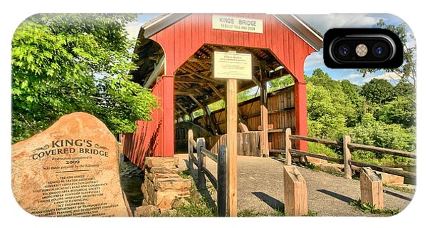 Somerset County iPhone Case - Kings Covered Bridge by Adam Jewell