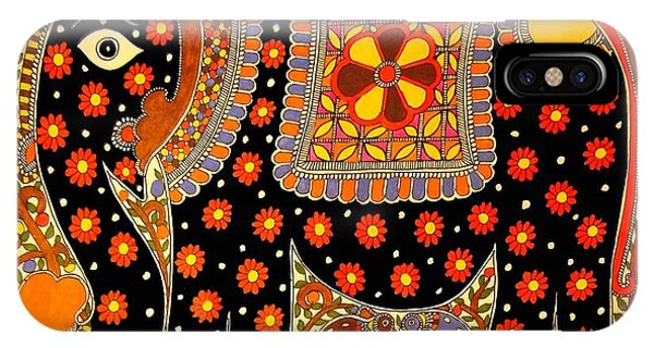 King's Elephant-madhubani Paintings IPhone Case