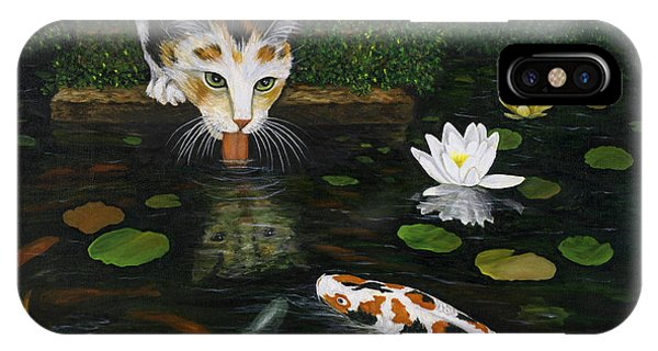 IPhone Case featuring the painting Kinship by Karen Zuk Rosenblatt