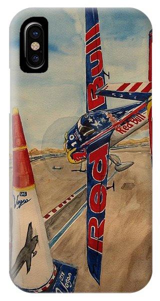 Pylon iPhone Case - Kirby Chambliss Flying The Chicane by Sonja Englert