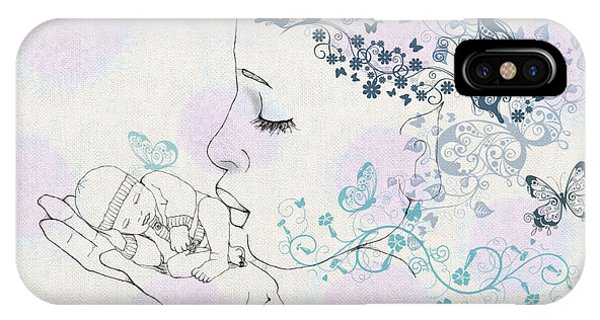Kiss To A New Born IPhone Case