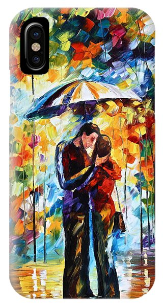 iPhone Case - Kiss Under The Rain 2 by Leonid Afremov