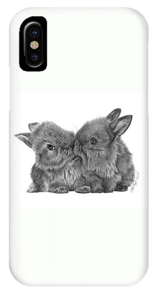 Kissing Bunnies - 035 IPhone Case
