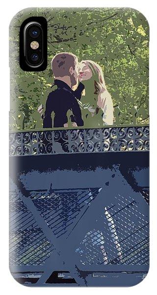 Kissing On A Bridge IPhone Case