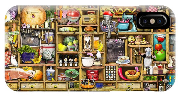 Shelves iPhone Case - Kitchen Cupboard by MGL Meiklejohn Graphics Licensing