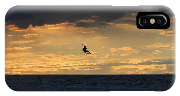 Kite Boarding West Meadow Beach New York IPhone Case