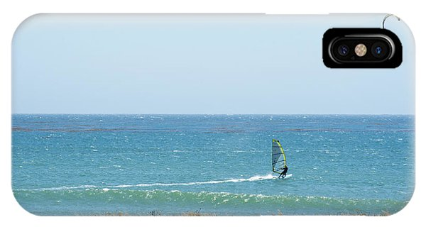 Kite Surfing And Wind Surfing Central Coast San Simeon California IPhone Case