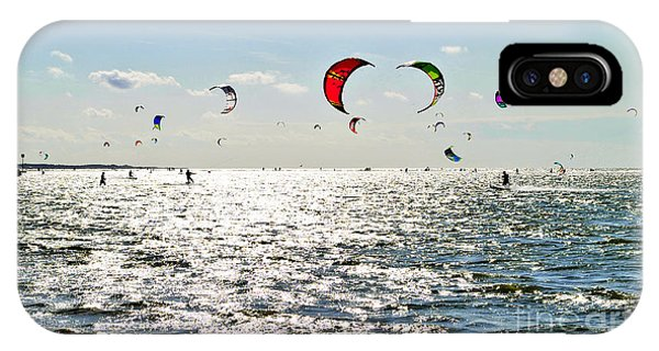 Kitesurfing In The Sun IPhone Case