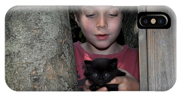 Kitten And Child IPhone Case