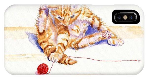 Kitten Interrupted IPhone Case