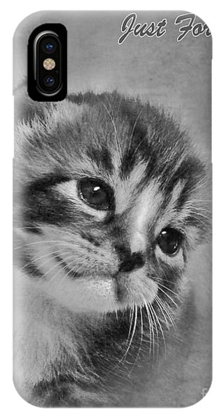 Kitten Just For You IPhone Case