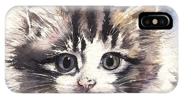 Kitten Lily IPhone Case