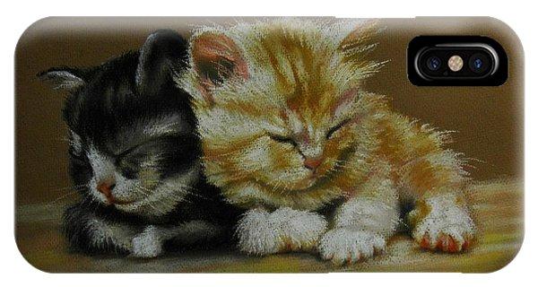 Kittens Asleep IPhone Case