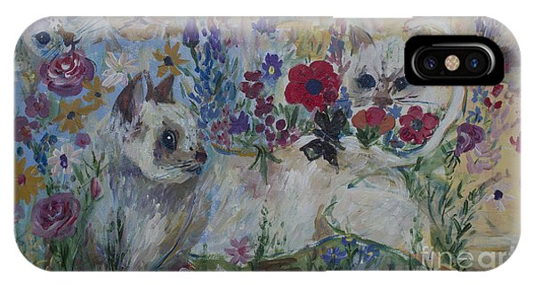 Kittens In Wildflowers IPhone Case