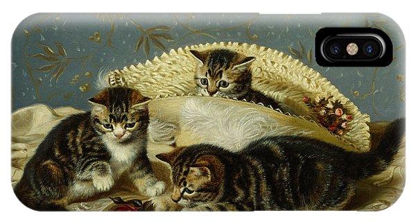 Kittens Up To Mischief IPhone Case