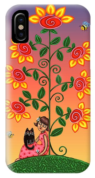 Kitty And Bumblebees IPhone Case