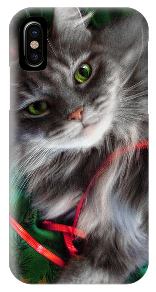 Kitty Christmas Card IPhone Case