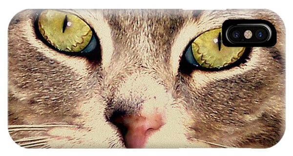 Kitty Green Eyes IPhone Case