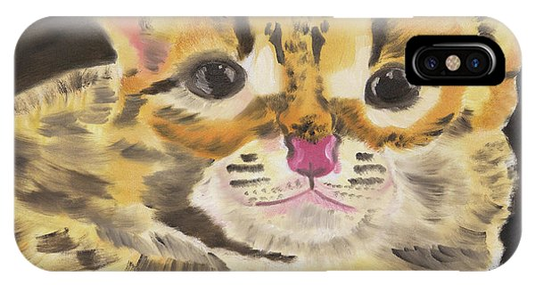 Peek A Boo Kitty IPhone Case