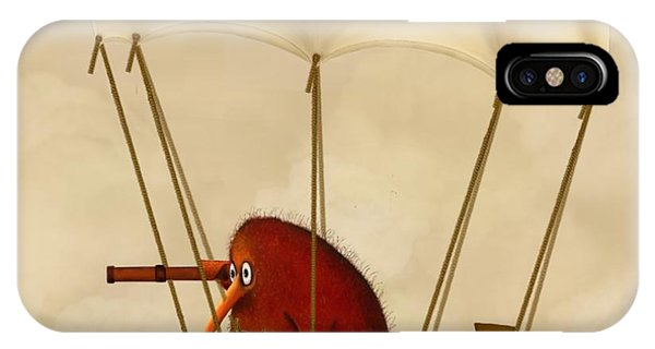 Kiwi Bird Kev's Airship IPhone Case