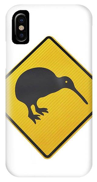 Cutout iPhone Case - Kiwi Warning Sign, New Zealand by David Wall