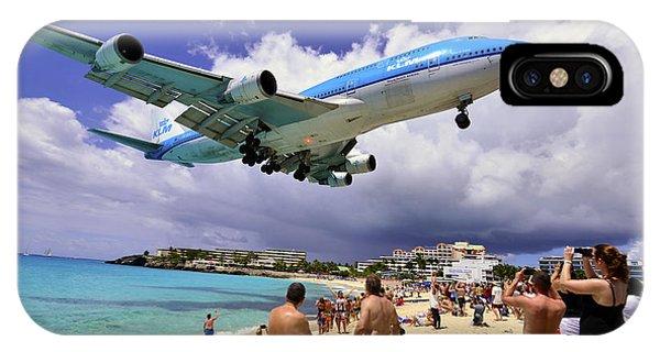 Klm Landing At St Maarten 2  IPhone Case