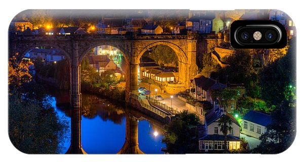 Knaresbrough Viaduct Night Reflection IPhone Case