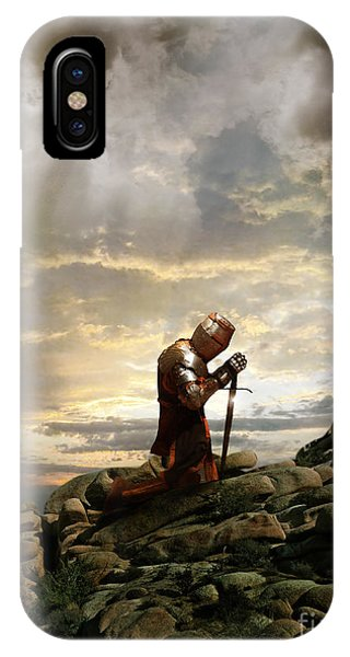 Kneeling Knight IPhone Case