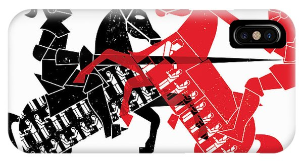 Fairness iPhone Case - Knights Jousting As Contrasting by Ikon Images