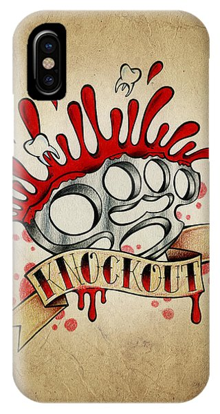 Color Pencil iPhone Case - Knockout by Samuel Whitton
