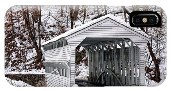 Covered Bridge iPhone Case - Knox Covered Bridge by Olivier Le Queinec