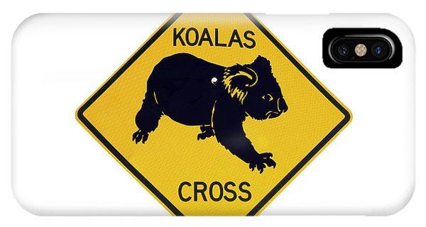 Cutout iPhone Case - Koala Crossing Warning Sign, Australia by David Wall