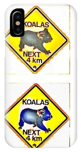 Koalas Road Sign Pop Art IPhone Case